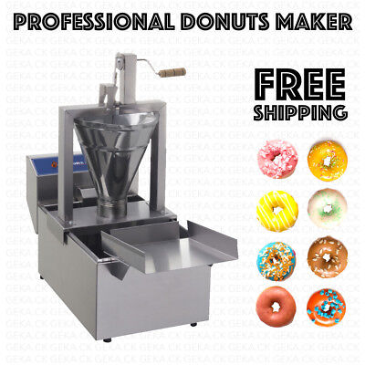 £370.37 • Buy Professional Small Business Compact Donut Fryer Maker Machine 80 Pc/h +Tank 1.3g