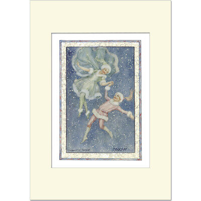 Snow Fairies - Margaret Tarrant - Medici Mounted Print • 21£