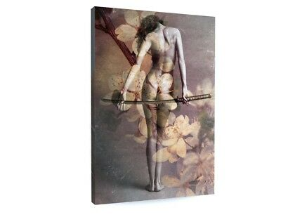 Abstract Nude Samurai Model Canvas Picture Print Chunky Frame Large #3455 • 33.91£