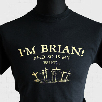 £10.99 • Buy I'm Brian And So Is My Wife Life Of Brian T Shirt 80's Monty Python Joke Funny