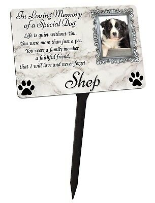 Your Photo Personalised Dog Puppy Memorial Plaque & Stake. Garden Grave  • 12.99£