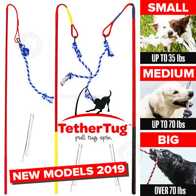 £58.05 • Buy Tether Tug V2 Outdoor Dog Interactive Toy Tugging Pull Exercise 5-70 Lbs And Up