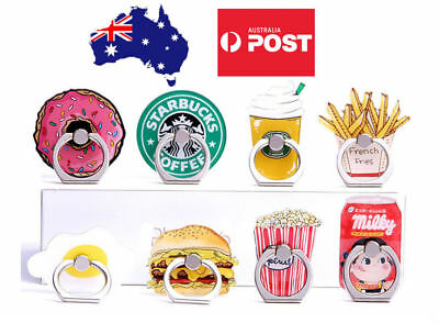 AU10.99 • Buy Cute Finger Ring Holder Pop Stand Grip IPhone Samsung Phone Socket Burger Fries