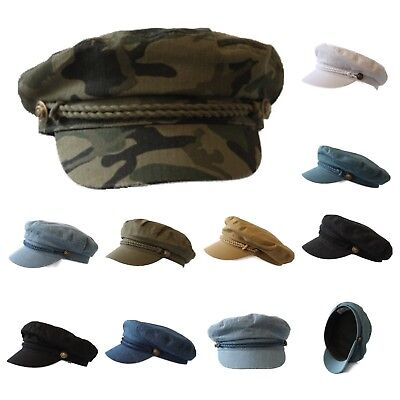 e6811058fe0e9 Men Sailor Captain Fisherman Cap Fashion Yacht Boat Costume Fiddler Unisex  Hat • 14.99