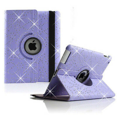 AU12.95 • Buy BLING Sparkly Swivel Leather Case Cover IPad 2 3 4 5th 6th 9.7 Pro Mini (OPT SP)