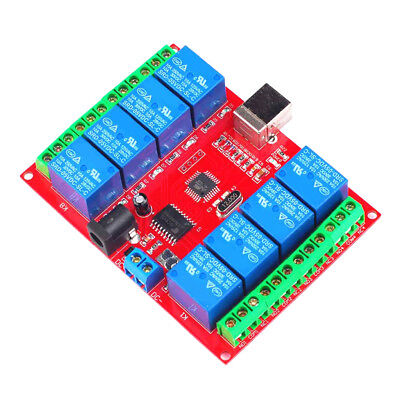 £13.12 • Buy USB Eight Channel 8 Relay Switch Output Module Board PC Computer Controller