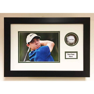 Golf Ball Display Case 3D Box For Signed Golf Ball With Photo & Title 17x11 Inch • 35£