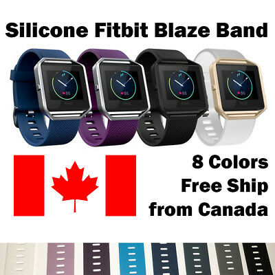 $ CDN7.99 • Buy For Fitbit Blaze Band Replacement Wrist Strap Silicone Smart Watch Band Large