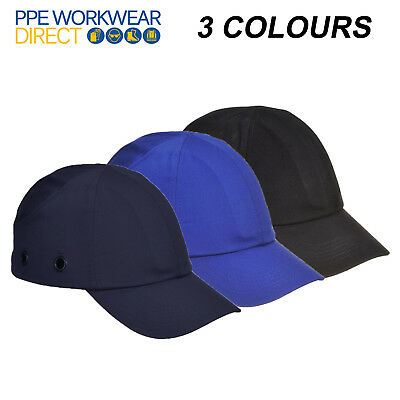 PORTWEST Bump Cap Hard Hat Safety Factory Removals Adjustable Peak Summer PW59 • 7.59£