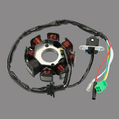 gy6 150cc 8 pole 8 coil magneto stator for scooter charging system • 14 98$