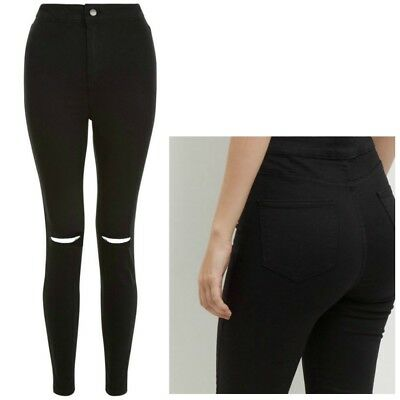 Ladies New Look High Waist Super Skinny RIPPED Jeans Sizes 8 - 18 Leg 34 Tall • 11.99£