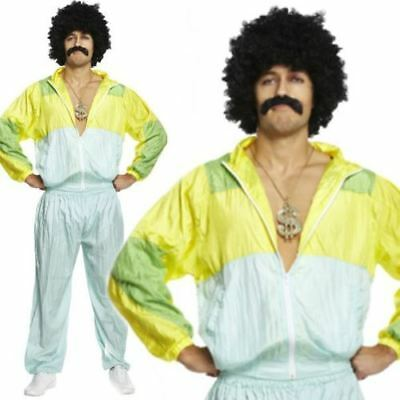 Mens Adult 80s Scouser Shell Suit Fancy Dress Costume Tracksuit Stag Do Jimmy • 13.30£