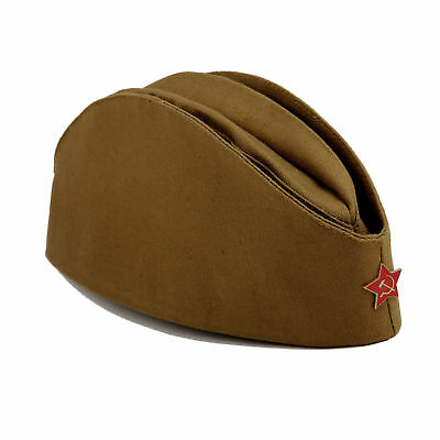 9a4b70327dd Soviet Soldier Russian Ussr Army Pilotka Military Uniform Field Hat + Red  Star • 14.99