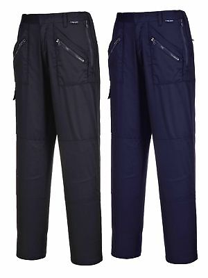 £15.69 • Buy Portwest Ladies Action Trousers Womens Zip Pockets Knee Pad Elasticated S687