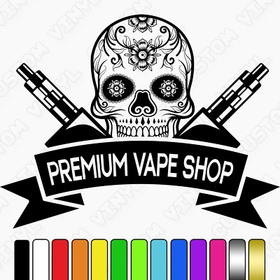 AU26.78 • Buy Vape Shop Sign, High Quality Adhesive Vinyl Wall/window Vape Shop Decal