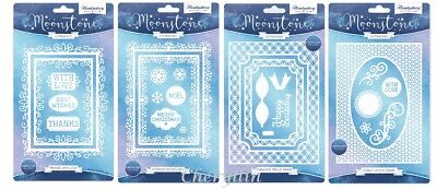 Hunkydory Moonstone Dies - Selection Of Trellis, Lattice And Snowflakes Frame • 15.95£
