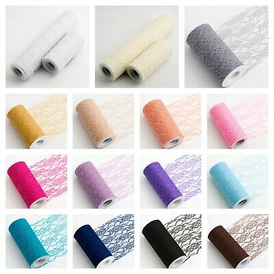 LACE NET ROLL Wedding Chair Tie Sash Floral Venue Table Balloon Tulle 10 Metre. • 6.04£