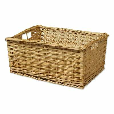 Kitchen Drawer Style Wicker Storage Basket Woven Vegetables Fruit Organiser • 31£