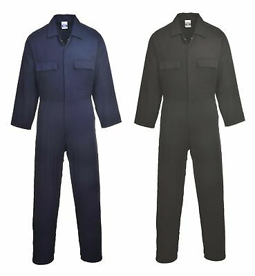 £15.57 • Buy Portwest Euro Work Cotton Coverall Overall Side Elastic Pocket Stud Front S998