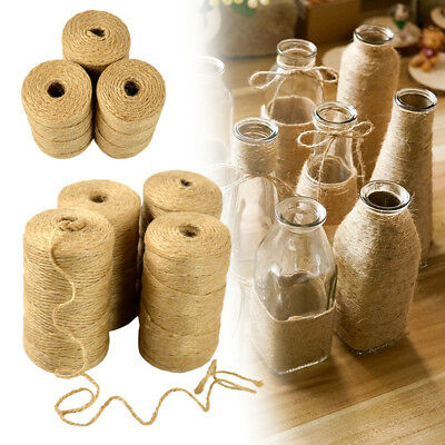 2Ply 1m-1000m Natural Brown Soft Jute Twine Sisal String Rustic Shabby Cord • 2.29£