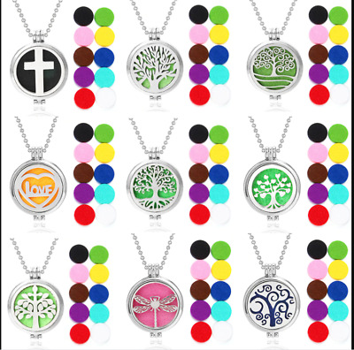 AU11.88 • Buy HQ Stainless Steel Aromatherapy Essential Oil Diffuser Locket Pendant Necklace