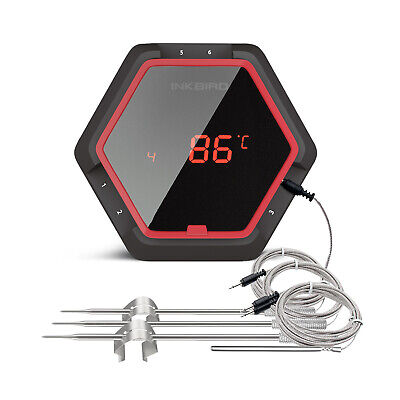 $ CDN60.12 • Buy INKBIRD Bluetooth Rechargeable Meat Thermometer Grill Meat Oven Weber Food Probe