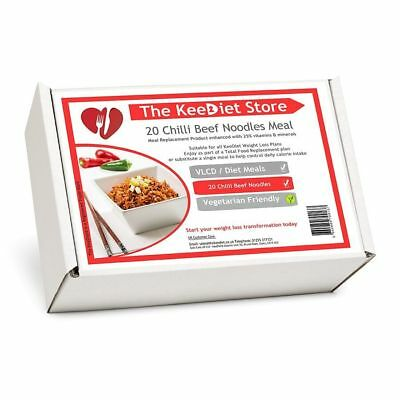 £25.99 • Buy KeeDiet Meal Replacement VLCD 20 Chilli Beef Noodles Diet Meal
