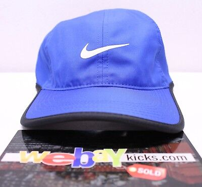 7713cd22afe9f Nike Air Feather Light Perforated Royal Blue Black Tennis Strapback Cap Hat  New • 19.99