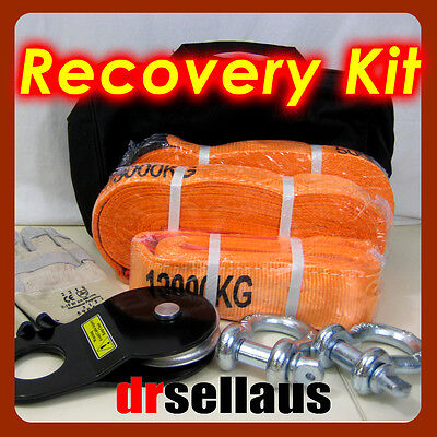 AU108 • Buy 8 Piece 4wd Winch Recovery Kit 4x4 Off Road