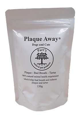 Plaque Away- Dogs & Cats 150g- Bad Breath & Tartar Removal - Can Improve Health • 8.75£