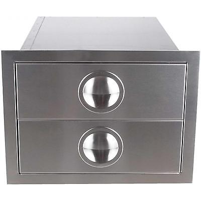 $225 • Buy Premium Outdoor Kitchen BBQ Island Double Drawer Stainless Steel Made USA