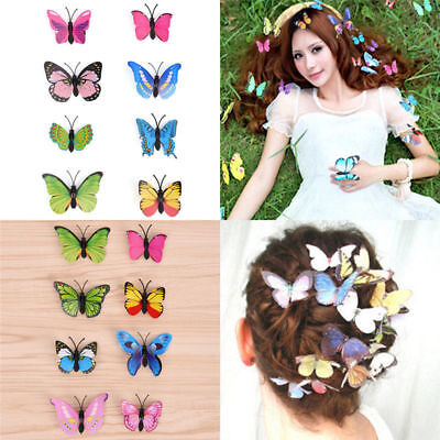 $ CDN1.98 • Buy Butterfly Hair Clips Bridal Hair Accessories Wedding Photography Costume