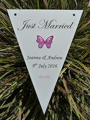 £4.50 • Buy 12 X Personalised Wedding Engagement Bunting Flags Birthday Christening Any Word
