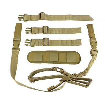 $ CDN25.10 • Buy Tactical 2 Point Rifle Sling Easy Length Adjuster With Shoulder Fits Any Gun