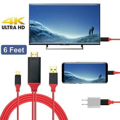 AU11.30 • Buy 6ft USB Type-C Thunderbolt3 To HDMI Cable Adapter For Galaxy S8/9 S10 Mcbook HP
