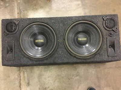 Double Dual 12  Custom Ported Box MDF Enclosure For 2 X 12  Sub Subwoofer • 79.99£