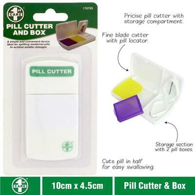 AU5.23 • Buy Convenient Travel Box Medicine Pill Holder Tablet Cutter Splitter Divider Cut
