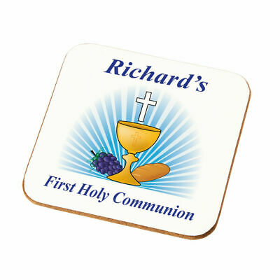 Personalised First Holy Communion Coaster Gift Boys First Holy Communion Present • 4.49£