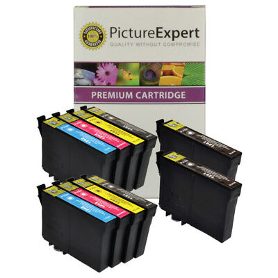 T1285 Compatible Non Oem  Black & Colour Ink Cartridge 10 Pack For Epson Printer • 18.25£