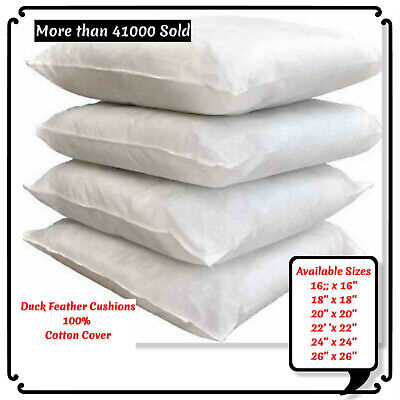 £7.49 • Buy Hotel Quality Duck Feather& Down Cushion Pads,Inserts,Inners, 16,18,20,22,24
