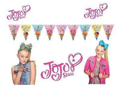 AU17.50 • Buy Jojo Siwa *HANDMADE* Banner Bunting Flag. Party Supplies Lolly Loot Bag Cake