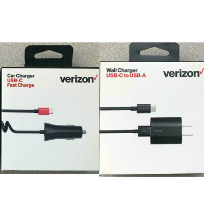 $ CDN15.76 • Buy Verizon Type C Wall Charger Or Car Charger Fast Charge For USB-C Galaxy S20 S10#