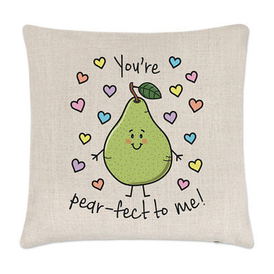 £10.99 • Buy You're Pearfect To Me Linen Cushion Cover Pillow - Funny Valentines Girlfriend