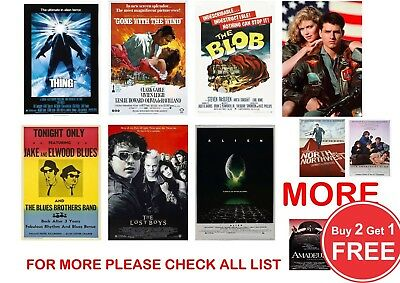 Classic Film, Movie Poster Prints In Sizes  A0-A1-A2-A3-A4-A5-A6-MAXI - CLS 1  • 0.99£