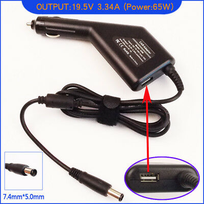 Laptop DC Adapter Car Charger + USB For Dell Studio 1555 1557 1458 1558 • 19.92£