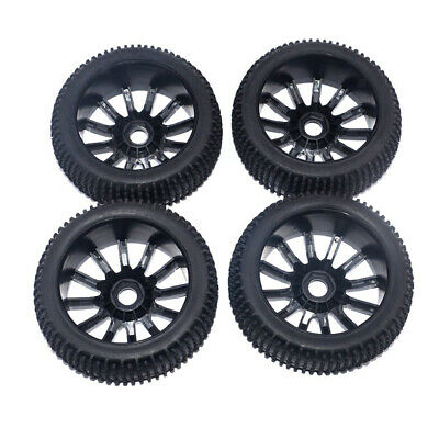 4 Pieces 1/8 Scale  RC Buggy Wheels & Tires For HSP HPI Racing Car • 12.66£