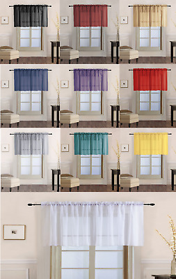 $5.50 • Buy 1 Piece Sheer Voile Rod Pocket Multi Use Straight Window Curtain Valance Topper