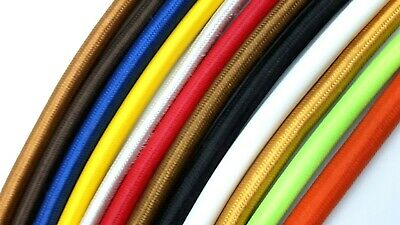 Fabric Flex Cable Round 3 Core 0.50mm Ideal For Pendant Lighting And Lamps • 2.99£