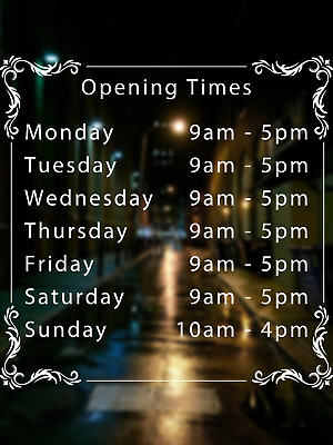 AU16.06 • Buy Vape Shop Opening Times Sign, Shop/business/window/door/wall Decal