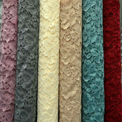 ROSE & HUBBLE Glitter Corded Lace Fabric Material Bridal Wedding Flower Girl • 4.99£